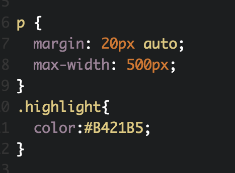 Inline color with span tag css example